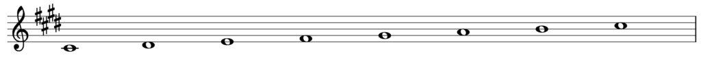 楽典 遠隔調 cis moll