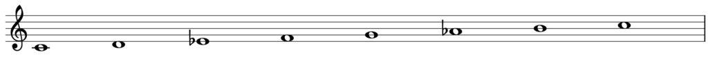 楽典 入門 和音 三和音 c moll 和声短音階