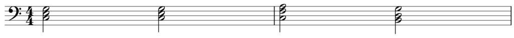 楽典 入門 和音 三和音 伴奏 転回形
