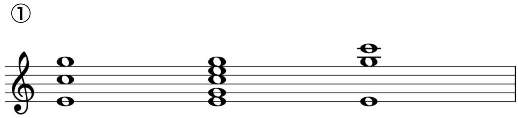 楽典 入門 和音 三和音 四和音 転回形 C dur