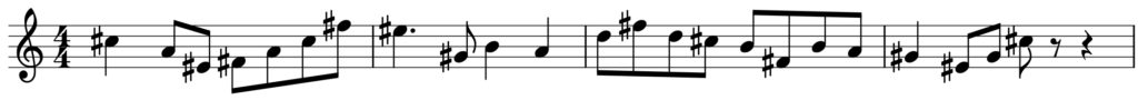楽典 入門 調判定 調号 シャープ フラット fis moll 嬰ヘ短調 A dur 平行調 導音