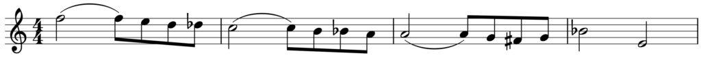 楽典 入門 調判定 音階固有音 跳躍進行 順次進行 サン=サーンス サムソンとデリラ フラット F dur