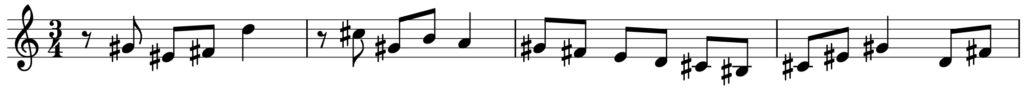 楽典 入門 調判定 旋律短音階 fis moll