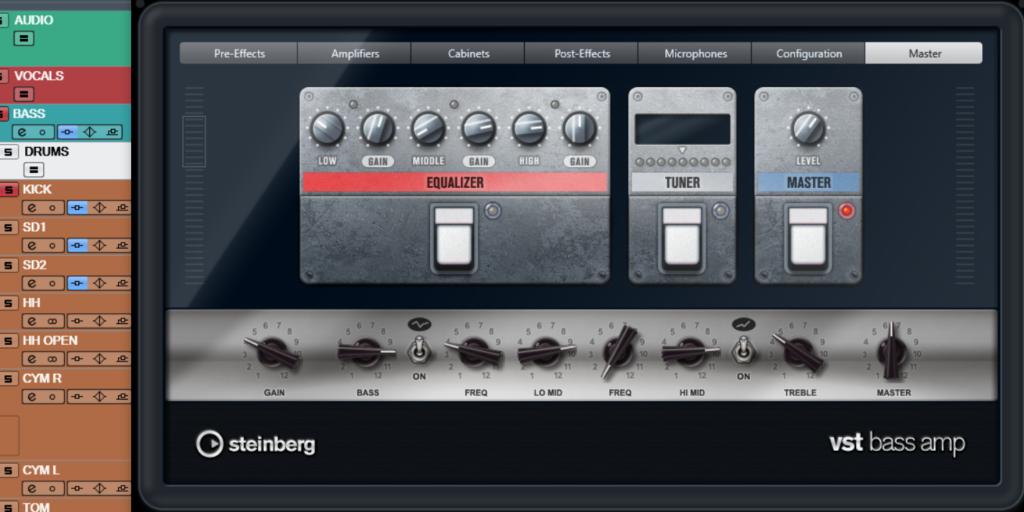 ミックス マスタリング ベース アナログシミュレーター アンプシミュレーター CUBASE VST Bass Amp 歪み