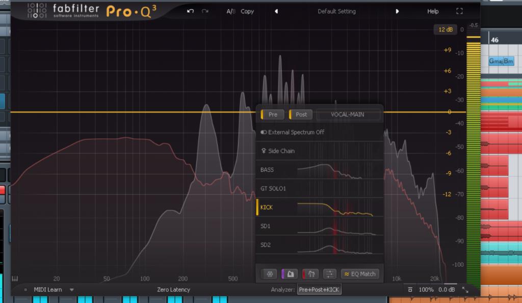 ミックス マスタリング マスキング fabfilter Pro-Q キック ベース 低音