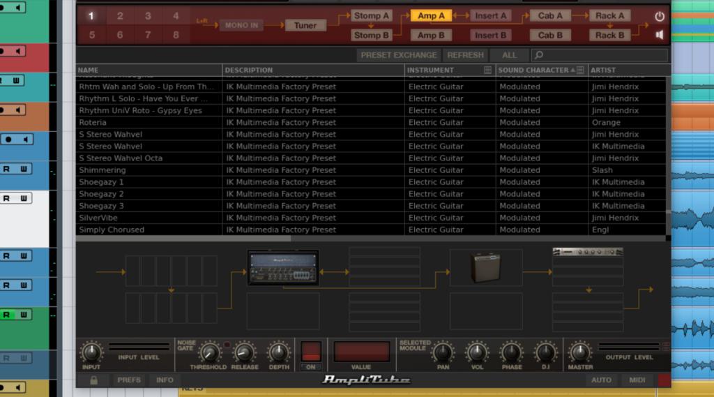 DTM DAW ミックス マスタリング IK Multimedia AmpliTube 4 Max プリセット ギター サウンドメイク