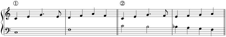 アルペジオ フレーズ 対旋律 対位法 音楽理論