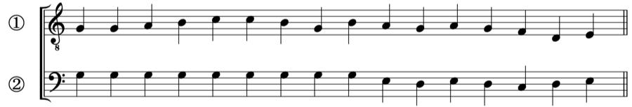 グレゴリオ聖歌 主旋律 対旋律 対位法 音楽理論
