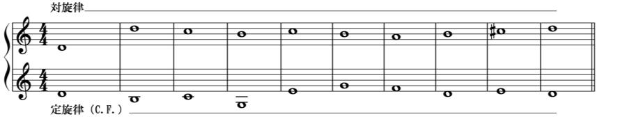 定旋律 カントゥス・フィルム C.F. 1:1 対位法 音楽理論