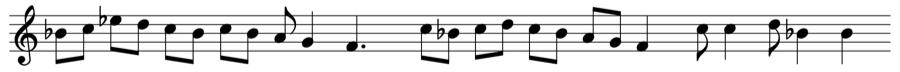 B イオニア旋法 対位法 音楽理論