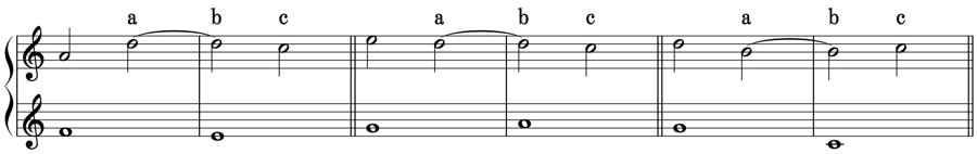 不協和音程 シンコペーション タイ 1:2 強拍 弱拍 拍子 リズム 対位法 音楽理論