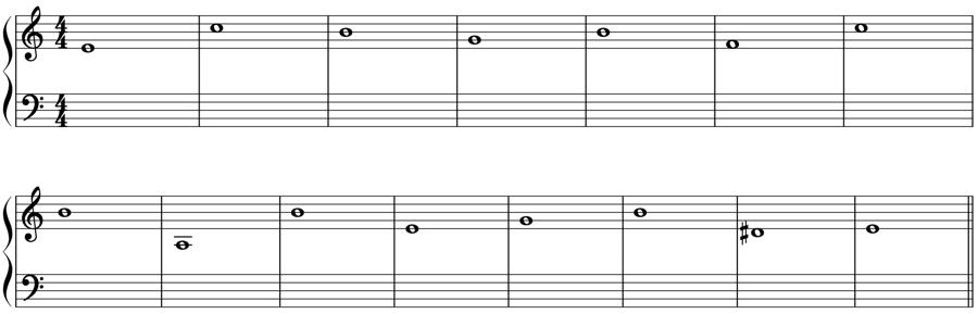 1:1 対旋律 定旋律 対位法 音楽理論