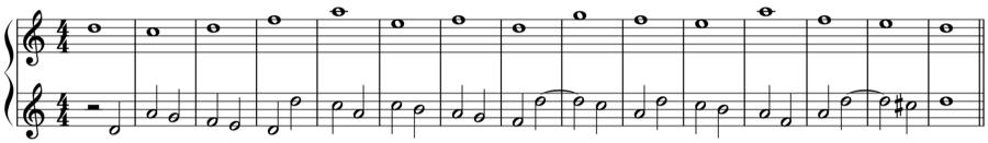 1:2 対旋律 定旋律 対位法 音楽理論
