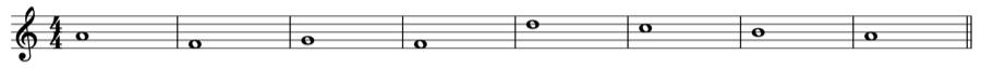 1:4 定旋律 対旋律 対位法 音楽理論