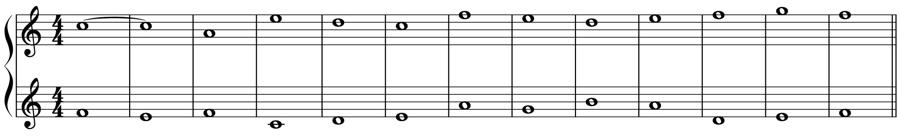 1:1 定旋律 対旋律 対位法 音楽理論