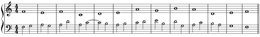 1:2 定旋律 対旋律 対位法 音楽理論