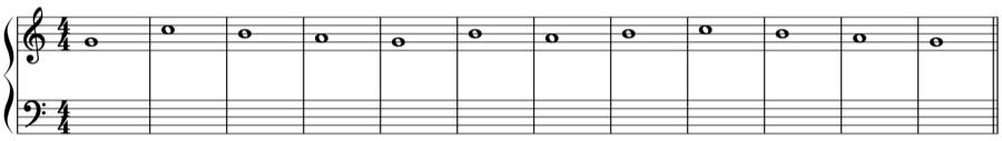 1:1 1:2 1:4 対旋律 対位法 音楽理論