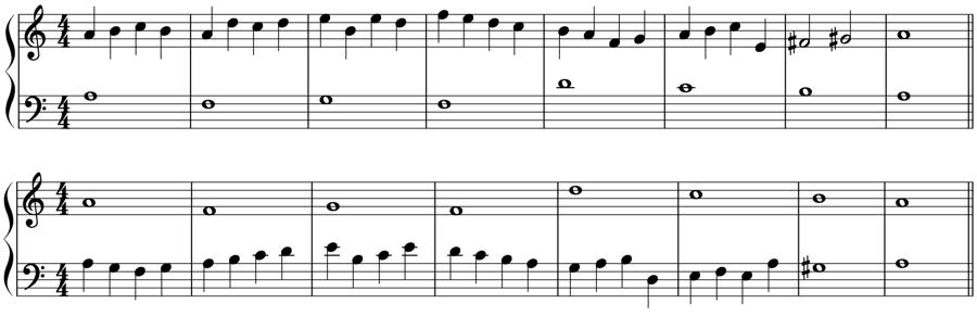 1:4 対旋律 対位法 音楽理論