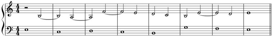 1:2 シンコペーション 定旋律 対旋律 対位法 音楽理論