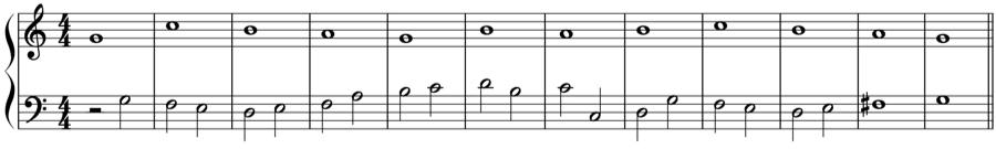 1:1 1:2 1:4 シンコペーション 定旋律 対旋律 対位法 音楽理論
