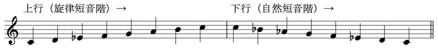 自然短音階 旋律短音階 楽典 和声法 対位法 音楽理論