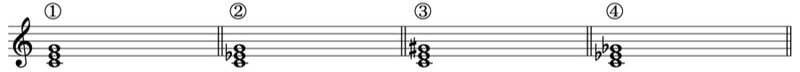 長三和音 三和音 和声法 音楽理論