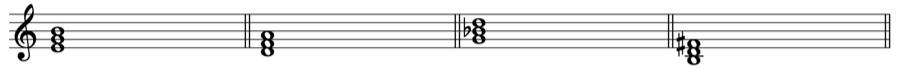 短三和音 三和音 和声法 音楽理論