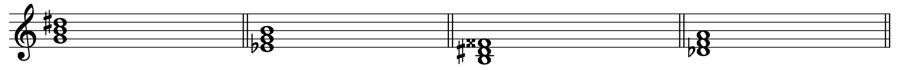 増三和音 三和音 和声法 音楽理論