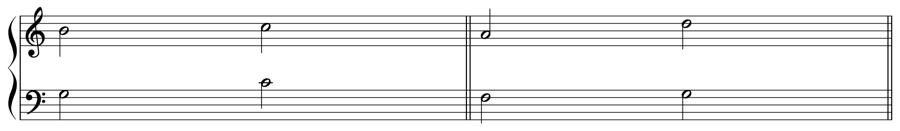 順次進行 跳躍進行 直行5度 直行8度 和声法 音楽理論