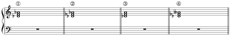 長三和音 短三和音 増三和音 減三和音 和声法 音楽理論