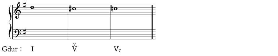 ドッペルドミナンテ 借用和音 準固有和音 属調 属和音 V度のV度 和声法 音楽理論