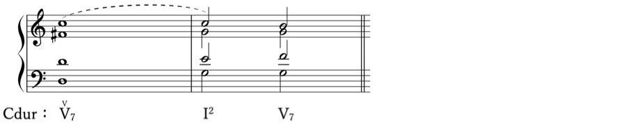 保続 ドッペルドミナンテ 借用和音 準固有和音 属調 属和音 V度のV度 和声法 音楽理論